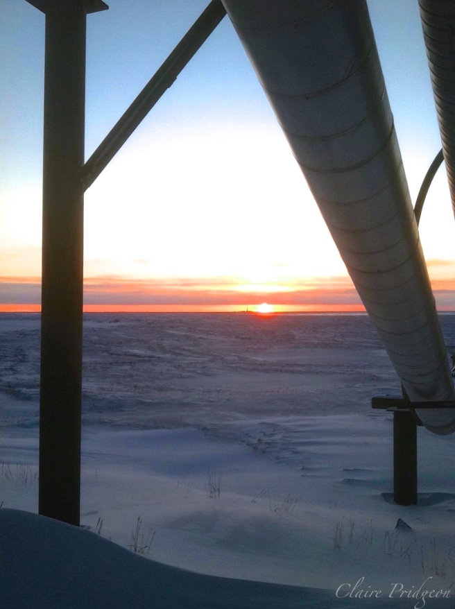 Setting Sun on the AK Pipeline